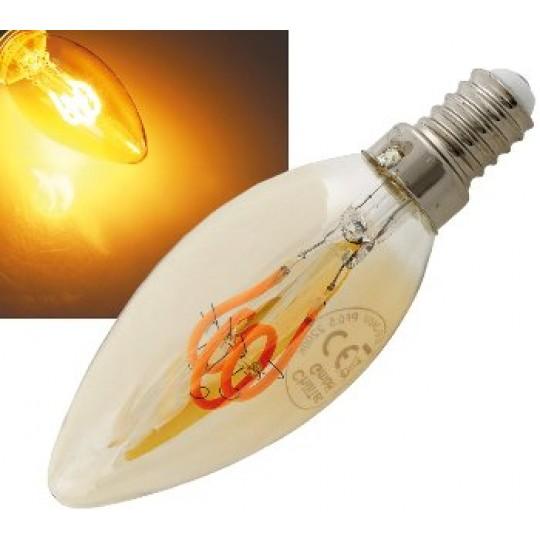 "ChiliTec 22977 LED Kerzenlampe E14 ""Vintage K25"", 2000k, 140lm, 230V/2W, warmweiß/amber"