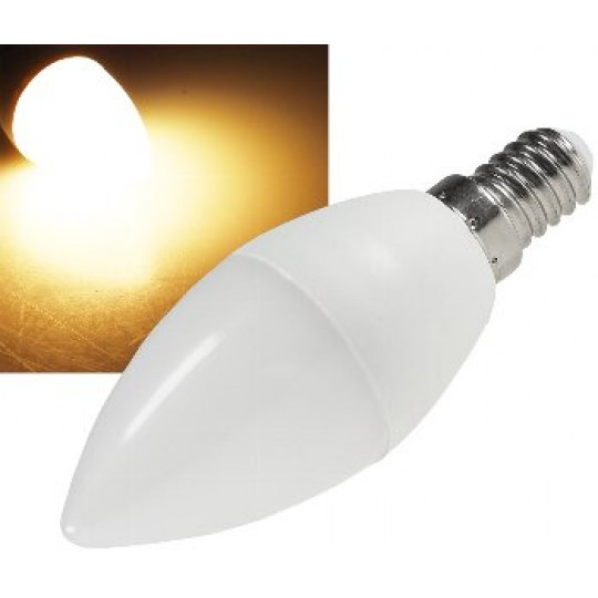 "ChiliTec 22998 LED Kerzenlampe E14 ""RA95"", 2900k, 480lm, 230V/6W, 160°, warmweiß"
