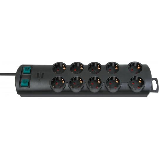 Brennenstuhl Primera-Line Steckdosenleiste 10-fach schwarz 2m H05VV-F 3G1,5 2x 5-fach schaltbare Steckdosen