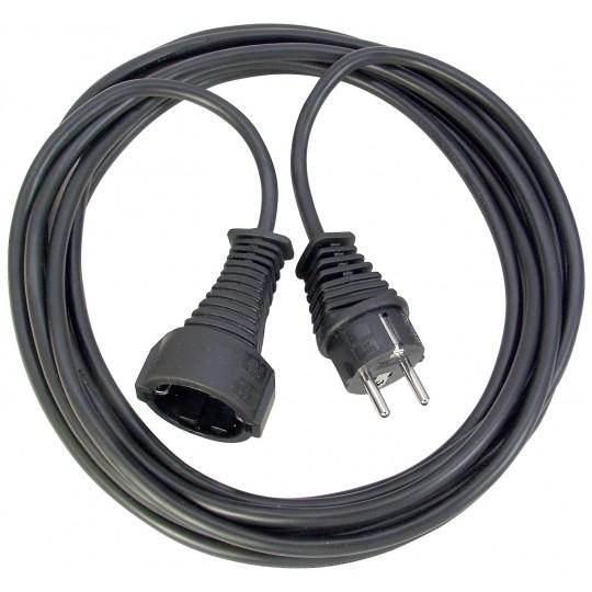 Brennenstuhl Qualitäts-Kunststoff-Verlängerungskabel 10m schwarz IP20 H05VV-F 3G1,5