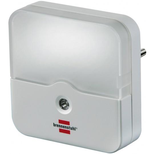 Brennenstuhl LED Orientierungslicht OL 02E  für die Steckdose mit Dämmerungssensor eckig weiß