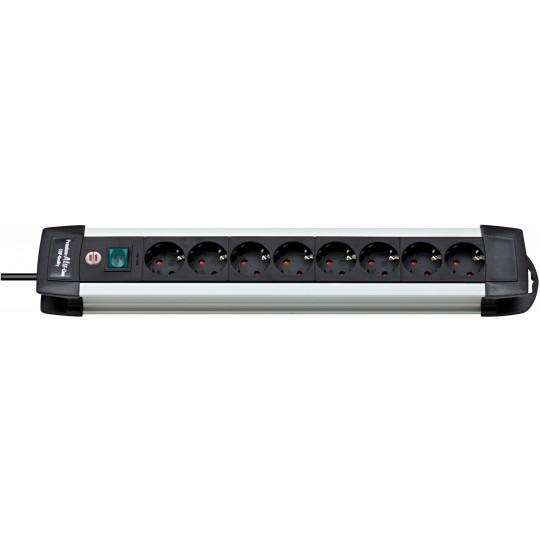 Brennenstuhl Premium-Alu-Line Steckdosenleiste 8-fach 3m H05VV-F 3G1,5
