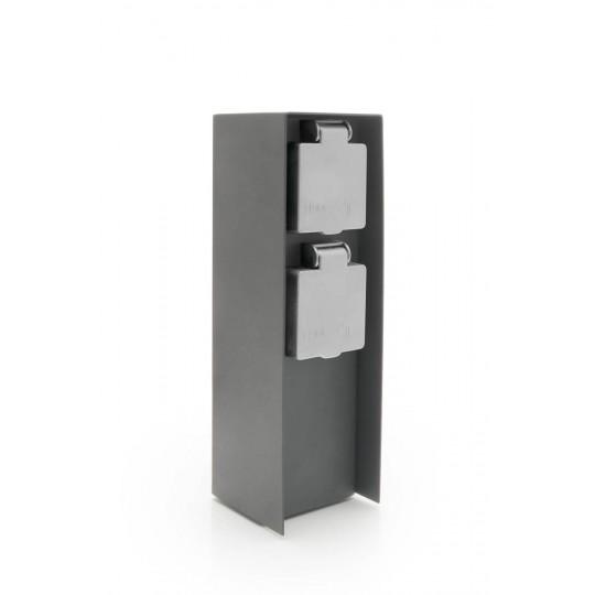 Außensteckdose mit zwei Steckplätzen