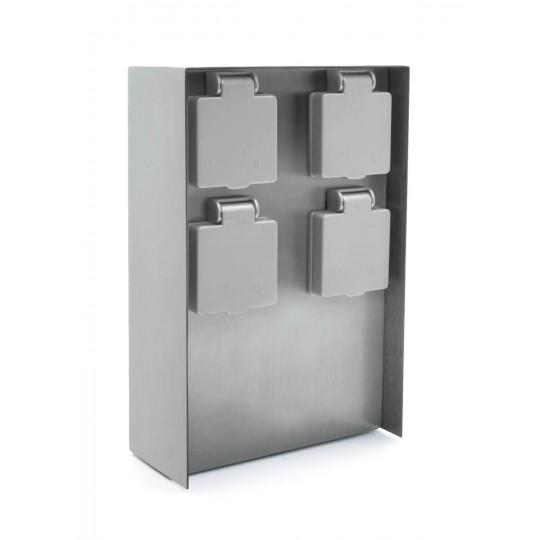 Außensteckdose mit vier Steckplätzen