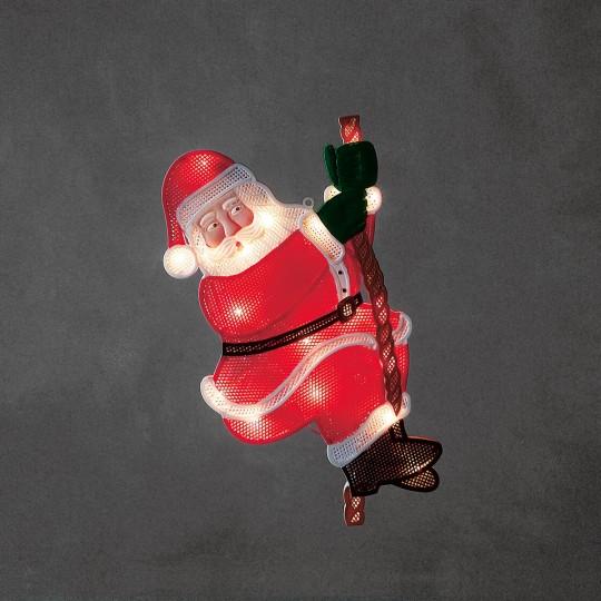 Konstsmide 2856-010 LED Fensterbild kletternder Weihnachtsmann