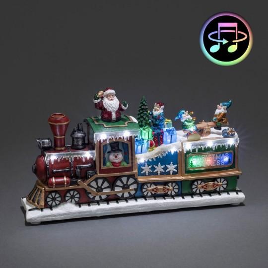 "Konstsmide 3437-000 Fiberoptik LED Szenerie ""Weihnachtsexpress"", mit Musik und Animation"