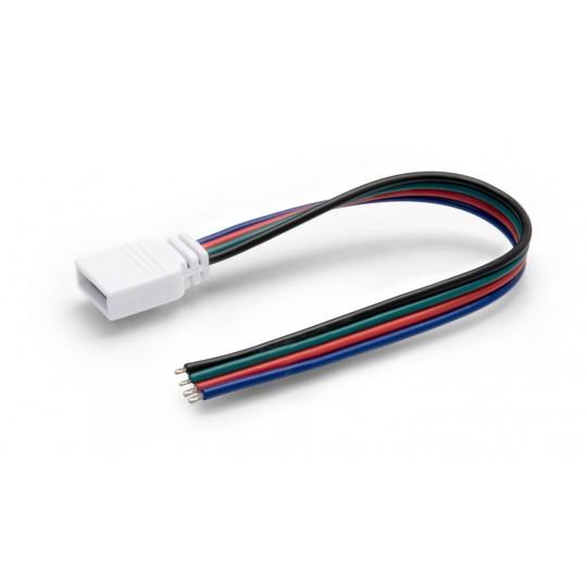 4 Pol Stecker/Buchse mit Kabellitze für RGB LED Streifen (ohne Steckverbinder)