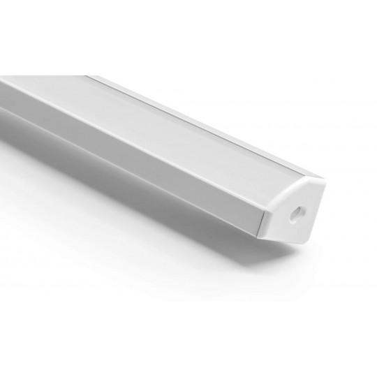 45° Aluminium Winkel Profil komplett