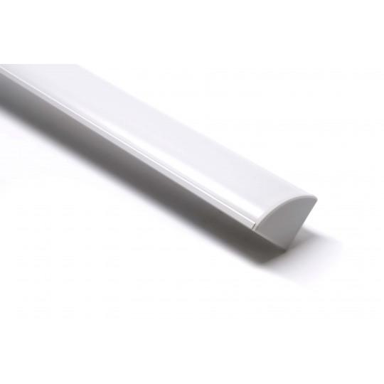45° Aluminium Winkel Profil 45 x 17mm   inkl. Blende, Endkappe