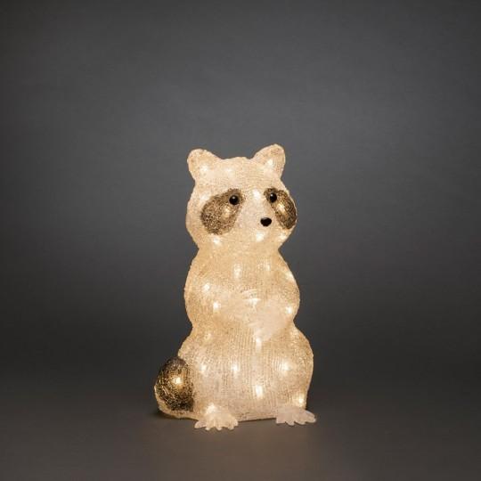 Konstsmide 6296-103 LED Acrylfigur Waschbär stehend
