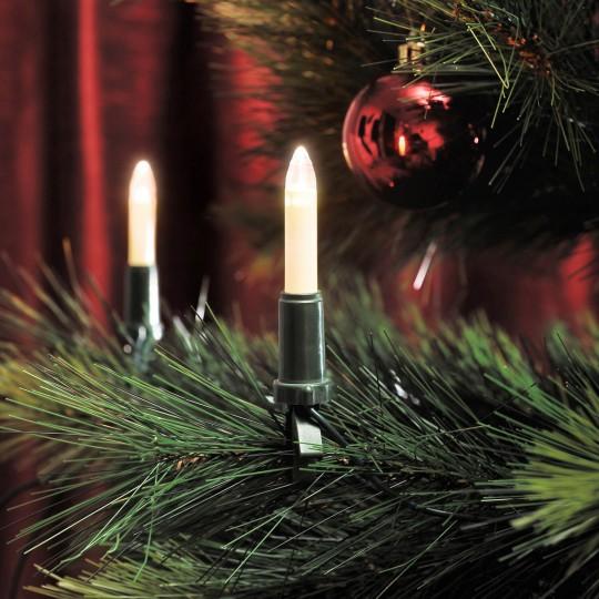 Konstsmide 1120-010 LED Baumlichterkette 15 Schaftkerzen, warmweiss, Innen weihnachtsdeko