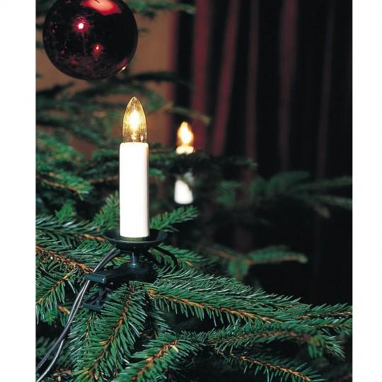 Konstsmide 1190-000 Baumlichterkette, 25 klare Topbirnen, warmweiss weihnachtsdeko