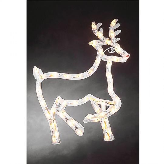 Konstsmide 2174-010 LED Fenstersilhouette Rentier weihnachtsdeko