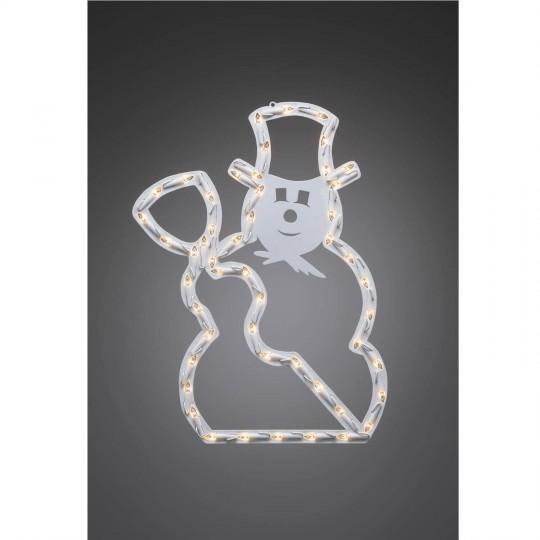 Konstsmide 2179-010 LED Fenstersilhouette Schneemann weihnachtsdeko