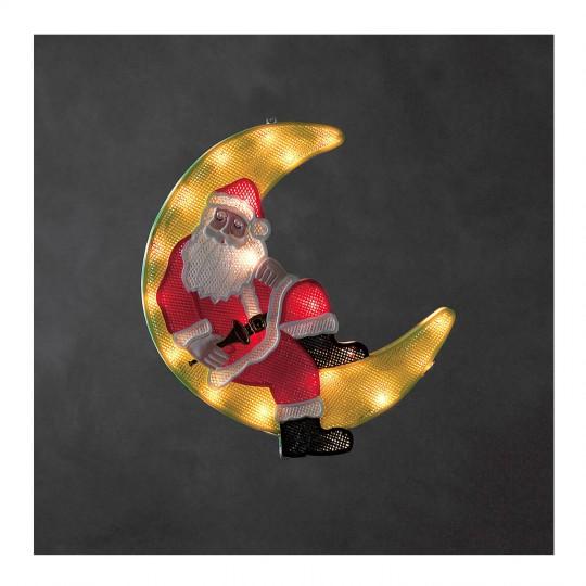 Konstsmide 2860-000 Fensterbild Weihnachtsmann im Mond weihnachtsdeko