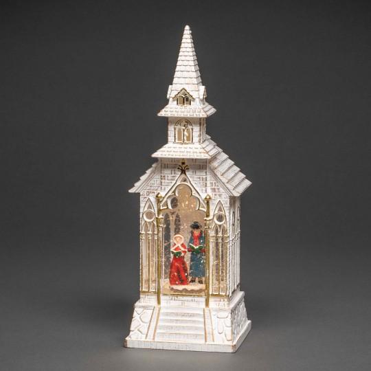 Konstsmide 4366-200 LED Laterne Kirche weiss weihnachtsdeko