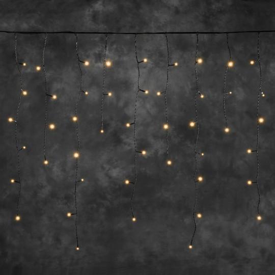 Konstsmide 4811-807 LED Hightech System Erweiterung Eisregenlichterkette, bernstein