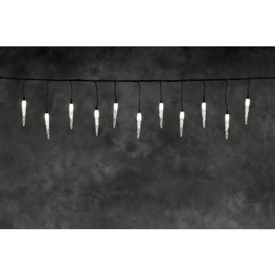 Konstsmide 4852-107 LED Hightech System Erweiterung Eiszapfenlichtervorhang, warmwei&szlig