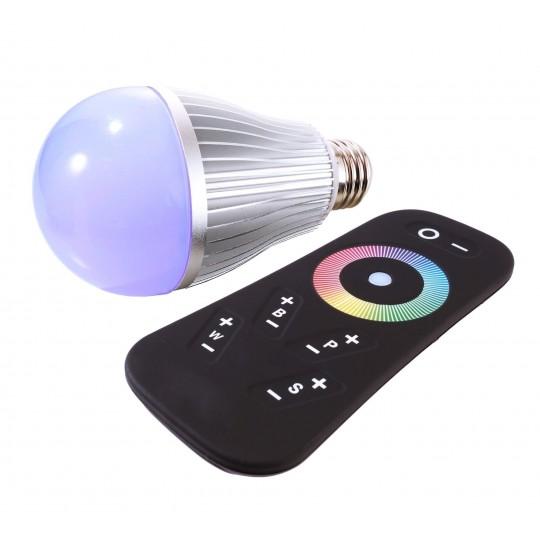 Deko-Light 180136 LED-Lampe/Multi-LED LED E27 RF RGBW mit Fernbedienung
