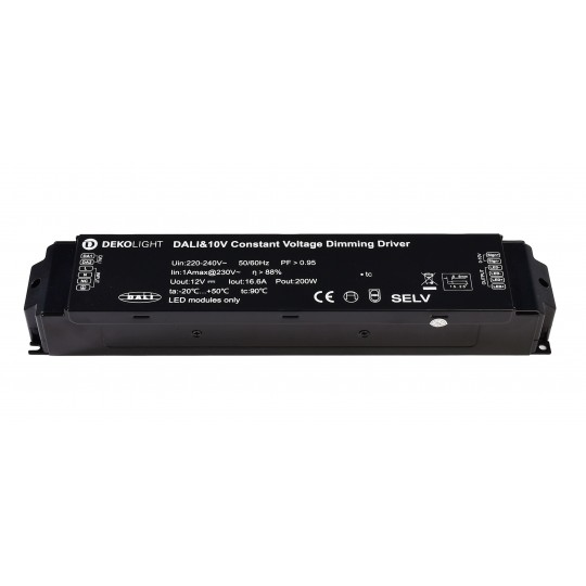 Deko-Light 862160 LED-Betriebsger??t BASIC, DIM, CV, 200AD-12V, DALI-Bus / Push / 1-10V