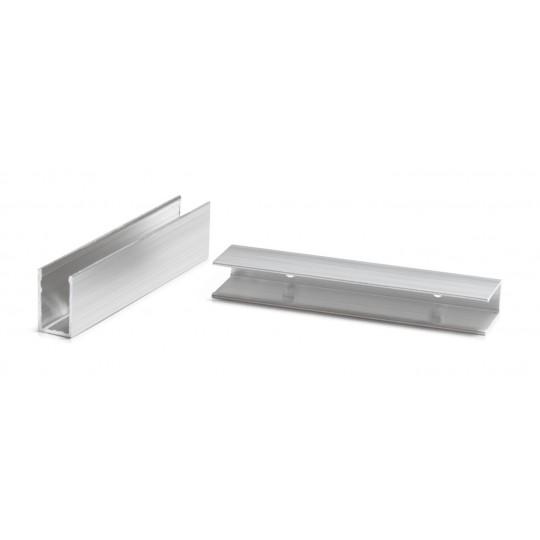 Aluminium U Schelle für schmale Neonflex Streifen - 2er Set