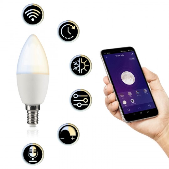 Xlayer Smart Home E14 Leuchmittel CCT - Funktionen