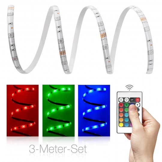 Comfort 12V RGB LED Streifen 3m Set 30 LED/m