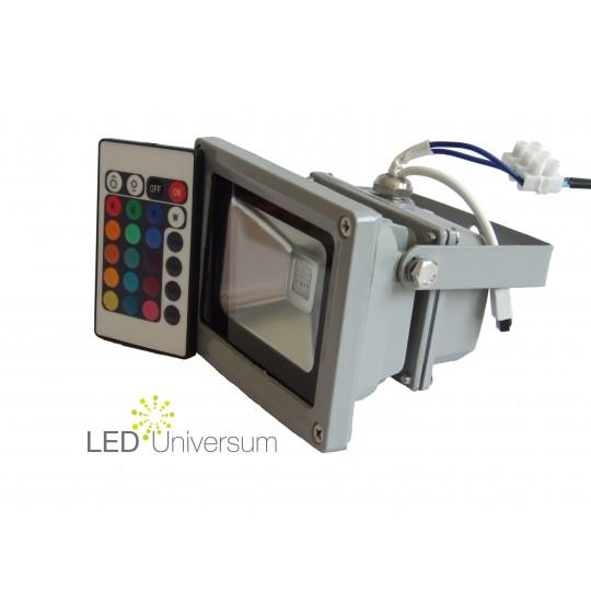 RGB LED Strahler 10W von der Seite