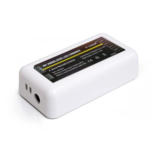 4 Zonen Funkcontroller für einfarbige Streifen (Anschlüsse Netzteil)