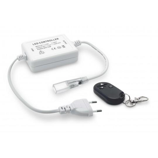 Controller und Funkfernbedienung für einfarbige 230V LED Streifen