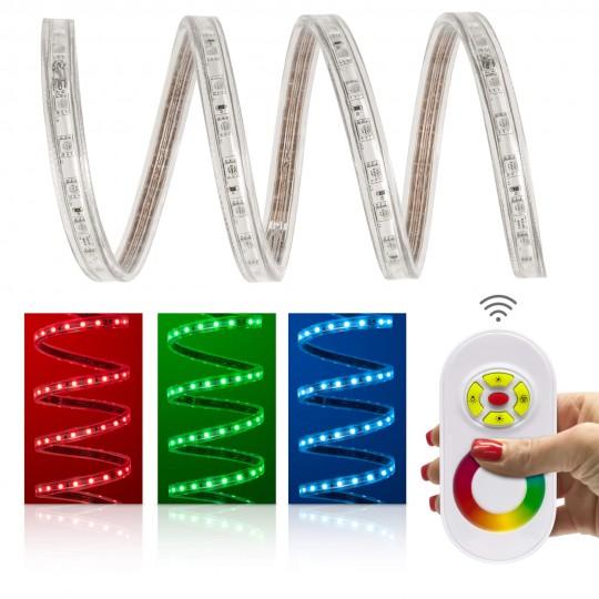 Professional RGB SMD5050 230V LED Streifen Set 60 LED/m - mit Funkfernbedienung