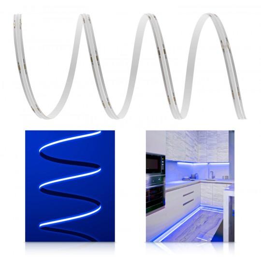 Premium 24V COB LED Streifen blau IP20