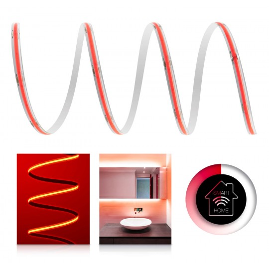 Premium 24V COB Filament LED Streifen Smart-Home-Set rot IP65