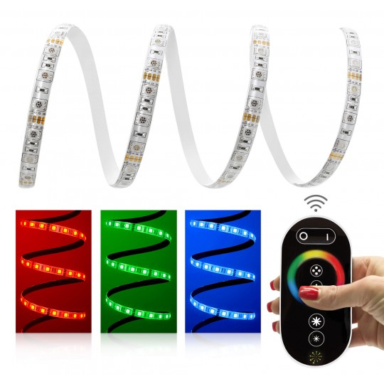 Comfort 12V RGB LED Streifen Set 60 LED/m - mit Funkfernbedienung
