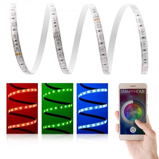 Premium 24V RGB LED Streifen 60 LED/m Set - mit App Steuerung