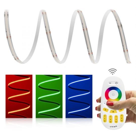 4 Zonen Set RGB COB LED Streifen 24V