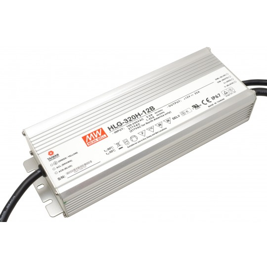 Dimmbares LED Netzteil MeanWell MeanWell HLG-320H-12B 320 W 12 V/DC 26,67 A LED Konstantspannung