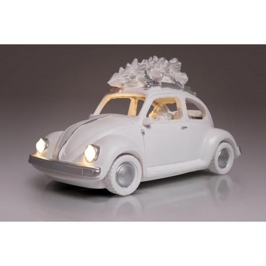 """LED Dekoleuchtfigur """"Santa Claus mit Auto"""""""