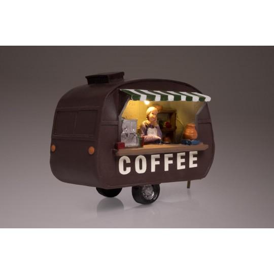 """Bunte LED Dekoleuchtfigur """"Kaffeewagen"""""""