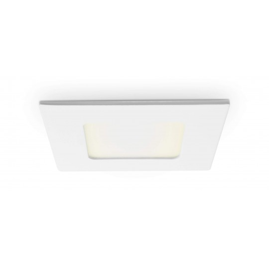 Quadratisches LED Panel - 4W - warmweiß - Decke