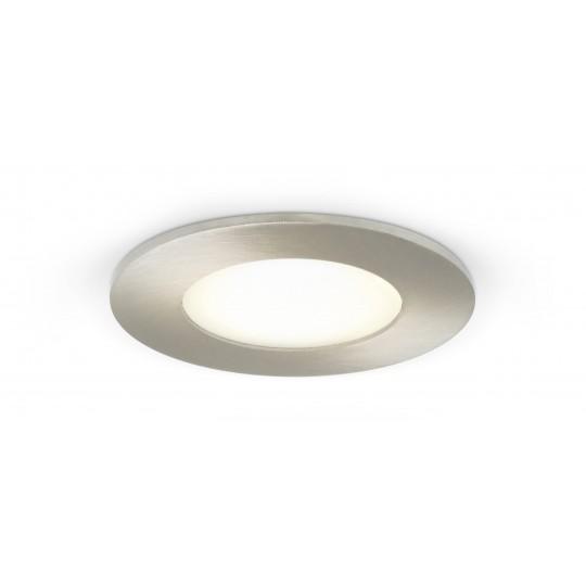 Rundes LED Panel mit Metallrahmen - 4W - eingeschaltet – Decke
