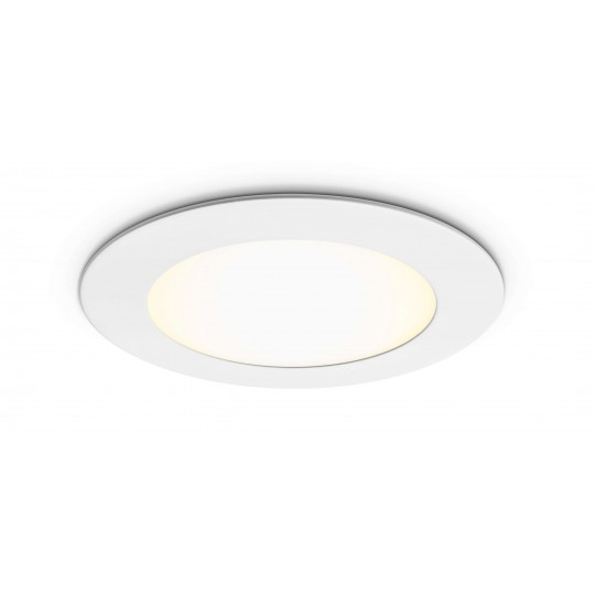 Rundes LED Panel - 6W - angeschaltet - Decke