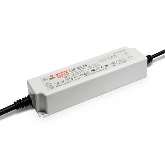 LED Netzteil MeanWell LPF-60-24 | 60 W 24 V/DC 0 - 2,5 A LED Konstantspannung (Default)