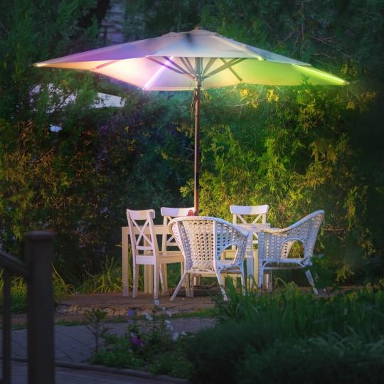 Sonnenschirmbeleuchtung RGB 24V Anwendungsbeispiel