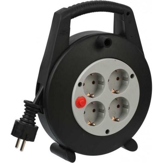 Brennenstuhl Vario Kabeltrommel 4 Schutzkontakt-Steckdosen 5m H07RN-F 3G1,5 IP20 schwarz/lichtgrau