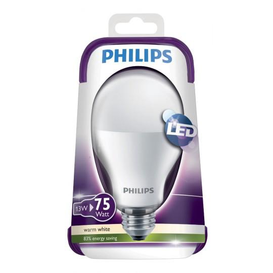 Philips LED-Birne E27, 230 V, 13 W,  ersetzt 75 W, 70842100