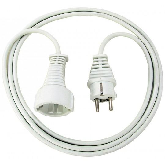 Brennenstuhl Qualitäts-Kunststoff-Verlängerungskabel 2m weiß IP20 H05VV-F 3G1,5