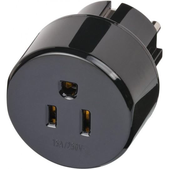 Brennenstuhl Buchse des Adapters zum Anschluss Deiner Geräte aus den USA, Kanada, der Dominikanischen Republik, Mexiko bzw. Japan