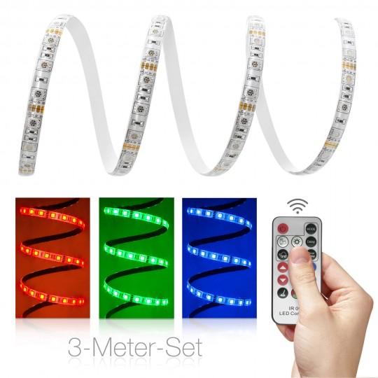 Comfort 12V RGB LED Streifen Set 3m 60 LED/m