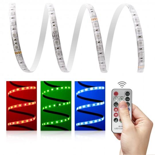 Premium 24V RGB LED Streifen Set 60 LED/m - mit Infrarotfernbedienung